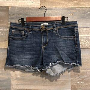 MUDD rough hem jean shorts 15
